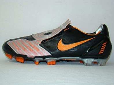 wholesale dealer a7ffb 22dd5 Nike Total90 Laser 2 FG Football Boots Black Grey Orange, Size 5   Amazon.co.uk  Shoes   Bags