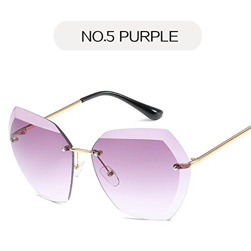 4 De Unas Sin Gafas Enormes Sol Gafas De Gafas Mujer Diamante Nº Cerco De KLXEB 5 Metal Nº Retro Señoras qATxSRR