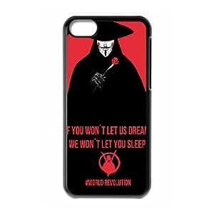 Unique Design Cases Ipod Touch 6 Cell Phone Case Black Black red revolution v for vendetta Jjjtm Printed Cover Protector