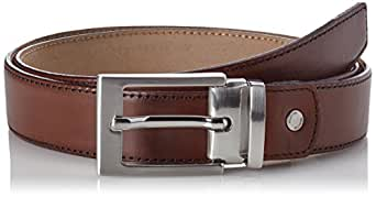 SELECTED HOMME Slhbaxter Leather Belt Noos B, Cinturón para Hombre, Marrón (Cognac) 90