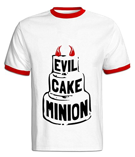 Eagle u2 Men's casual Tshirts Evil Cake Minion red