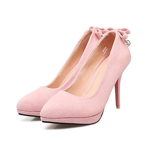 MEI&S Stiletto Femmes Hauts Talons Chaussures Chaussures Bouche Peu Profonde Pink