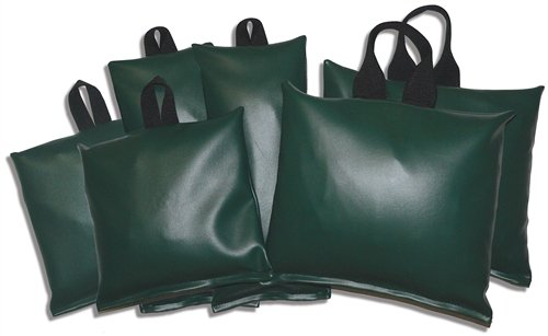 Patient Positioning Sandbags - Set of 6 Sandbags, 7-lb 10'' x 10'', 10-lb 7'' x 16'', 20-lb 12'' x 14'', Available in 6 Colors by Colortrieve (Image #1)