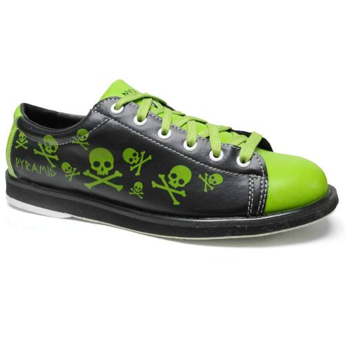 Pyramid Men's Skull Black/Green,9.5 D(M) US (D Roses Shoes Youth)