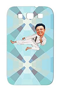 Silver TPU Tear-resistant Satire Funny Kim Kick For Sumsang Galaxy S3 Cover Case