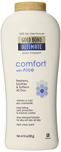 Gold Bond Ultimate Comfort Body Powder, Aloe & Chamomile 10-Ounce Bottles by Gold Bond