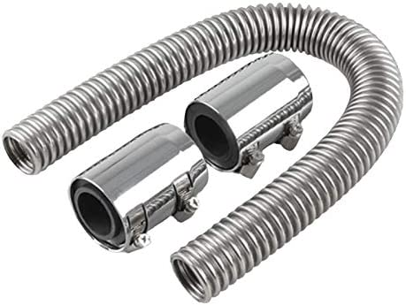 RETYLY 24 flexible upper//lower car radiator hose kit and stainless steel with chrome-plated cap