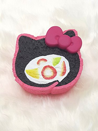 Nom Nom Series :Cake roll Fruit squishy Sweet bow ( Charcoal) - Studio Grab Bar