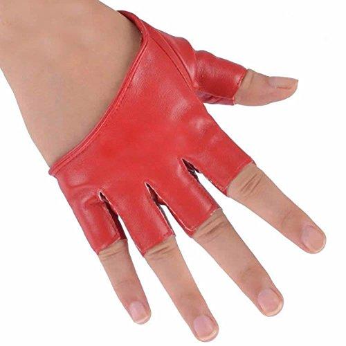 - Froomer Women Half Finger Gloves Fingerless Mittens Red
