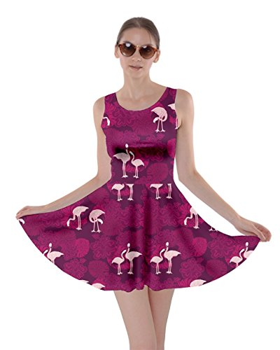Flamingo Beach Womens Flamingo CowCow Birds Skater 5XL Partydress Magenta Poolside Feather Dress Hot Summer XS Tropical fR1p5x1wq