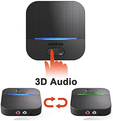 Bluetooth 5.0 Receiver, 3D Surround aptX Low Latency HiFi Wireless Audio Adapter 20H Playtime Handsfree Call RCA AUX 3.5mm Output for Car Speaker Home Amplifier Music Streaming Stereo System, Pair 2