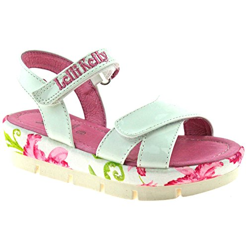Lelli Kelly LK9438 (FA01) Peggy Vernice Bianco Sandals-32 (UK 13)