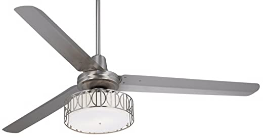 60 casa vieja turbina art deco brushed steel ceiling fan amazon 60quot casa vieja turbina art deco brushed steel ceiling fan mozeypictures Images