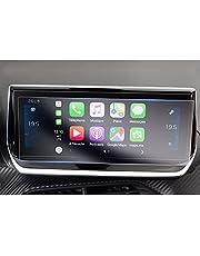 GAFAT Peugeot 208 2008 e-208 e-2008 10 inch navigatie-beschermfolie, PET-kunststof displaybeschermfolie voor auto GPS, 4H anti-kras anti-reflectie [2 stuks]
