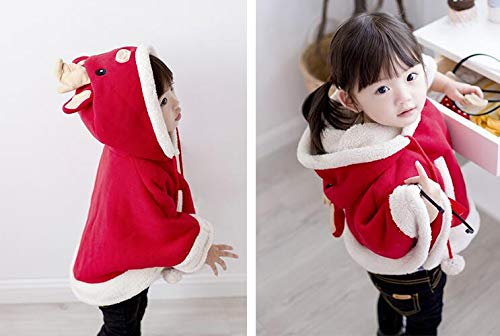 Fairy Baby Girl Christmas Clothes Cloak Kid Poncho Hood Cape Coat Snowsuit Winter Outfit