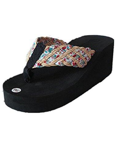 Sandales pantoufles Crème Confortable Summens Pente Femmmes avec Tongs 7SE7qawP