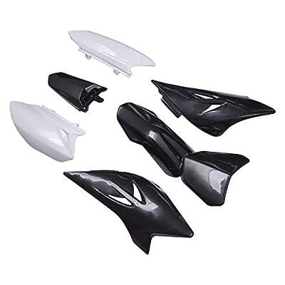 Aftermarket Black White Plastic Fairing Body Parts Fender Kits Replace For Pit Dirt Bike TTR50 TTR50E 2006-2016: Automotive