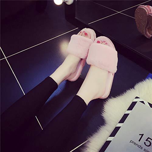 Caliente Anti Mantener Slip Algodón Pink Espesar Prape De Zapatillas Casa vadAv8qx