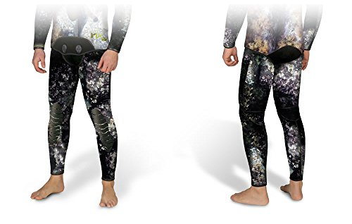 OMER 7mm Mix 3D Camouflage Spearfishing Wetsuit Pants Camo Bottoms, Small by Omer