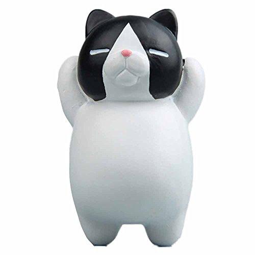Funny 3D Cat Fridge Magnet, Witspace Animals Refrigerator Clip Resin Cartoon Sticker for Whiteboard/Calendar/Fridge (E)