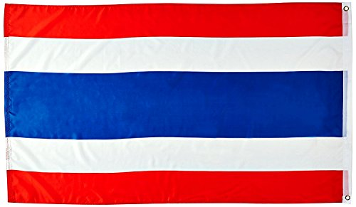Blue Mango Thailand Flag Nylon 100% Outdoor Embroidered Boat Flag Brilliant Colors Canvas Header and Double Stitched 3x5 - Mango Sunglasses Uk