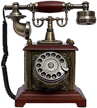 樹脂模造銅レトロな昔ながらのロータリーダイヤル アンティーク電話ターンテーブルレトロリビングルームホームギャラリーギフト固定電話