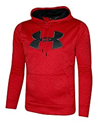 Under Armour Men's Storm Fleece Big Logo Hoodie Athletic Hooded Shirt Heather (Xxl, Red Heather)
