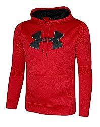 Under Armour Men's Storm Fleece Big Logo Hoodie Athletic Hooded Shirt Heather (Xxl, Red Heather)