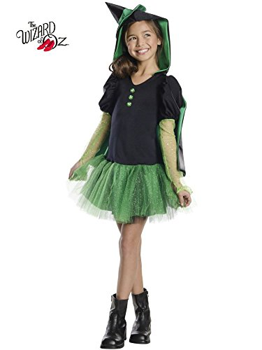 Rubies Wizard of Oz Wicked Witch of The West Hoodie Dress Costume, Child Medium]()