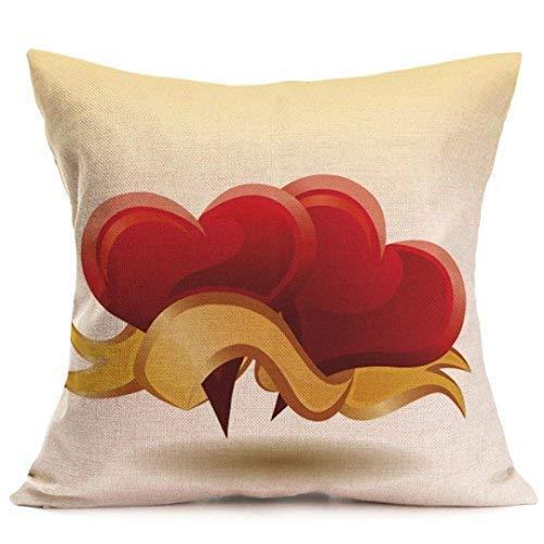 Amazon.com: Valentines Day Pillow Covers Cajas De Amor Españolas Casos De Cojines Decorativos para El Hogar 18x18 B: Kitchen & Dining