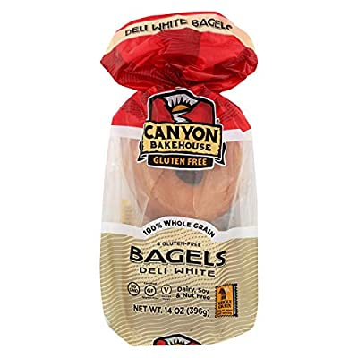 CANYON BAKEHOUSE, BAGEL, DELI, WHITE, Pack of 6, Size 14 OZ - No Artificial Ingredients Dairy Free Gluten Free Kosher Low Sodium Wheat Free