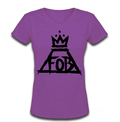 Price comparison product image V Neck T Shirt for Women Rock Bands Fall Out Boy Adult T-shirt
