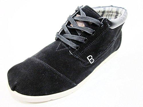 TOMS Men's Highlands Botas Boot Black Suede Fleece Size 10 D(M) US (Highland Boot Suede)
