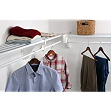 EZ SHELF - 12 ft. Closet Organizer Kit. Up to 12.2 ft. of Hanging & Shelf space - White