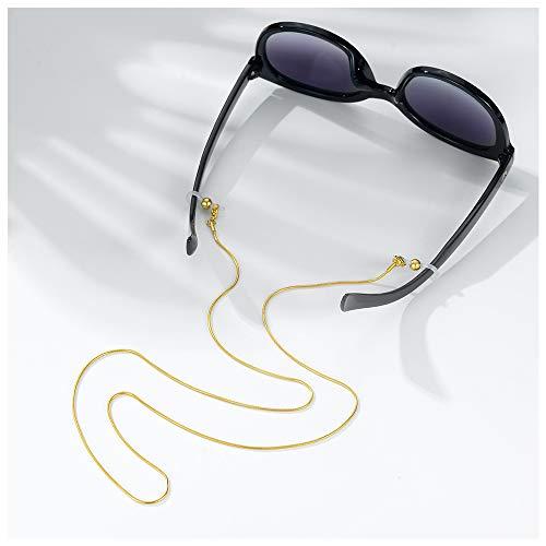 Fashion sunglass retainer strap,gold eye glass chain women (Gold-Snake chain)