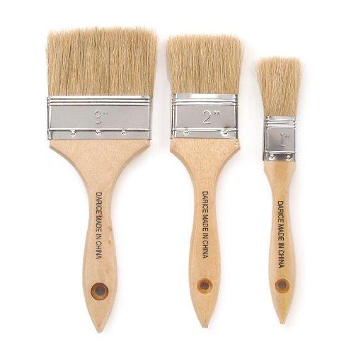 Darice Bristle Paint Brush  (set of 3) Brush Art Bristle Brush