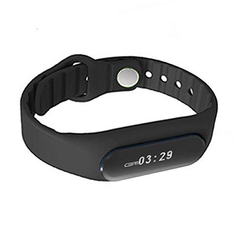 Forestfish(TM) Bluetooth Fitness Tracker Wireless Activity Tracker Wristband Smart Bracelets with Pedometers (Black)