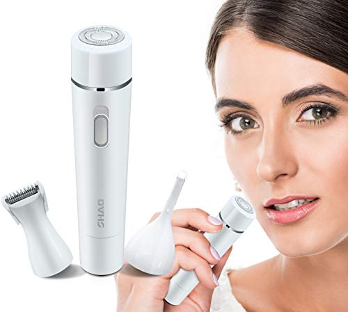 for Women, 3 in 1 Multi-functional Eyebrow Trimmer, Facial Razor, Bikini & Legs Hair Remover, and Epilator for Women 2018 MS-026 (White) ()