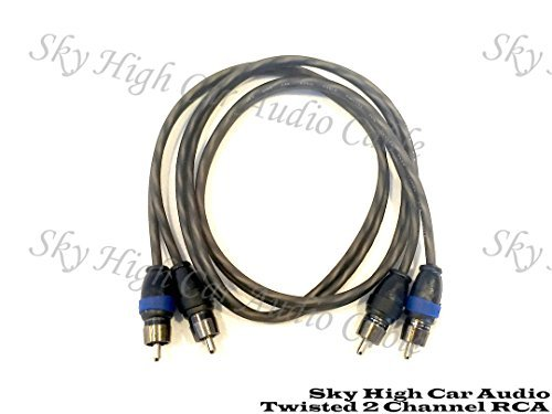 1.5 Rca Cable - Sky High Car Audio 2 Channel Twisted 1.5 ft RCA Cables Coated 1.5' OFC 1 1/2