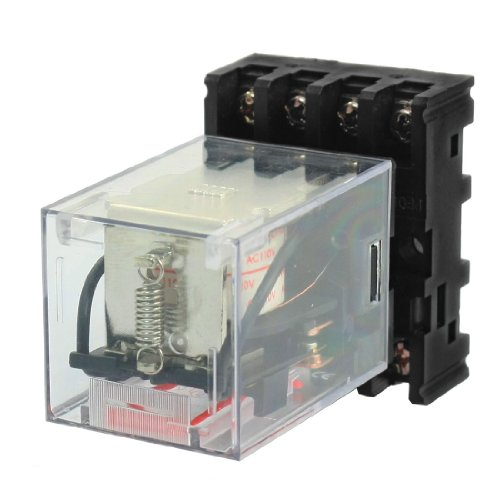MK2P-1 AC 110V Coil Voltage 8 Pins DPDT Electromagnetic Power Relay
