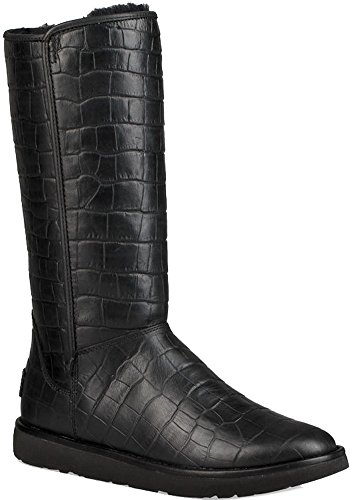 UGG Womens Abree II Croc Boot Black Size 5