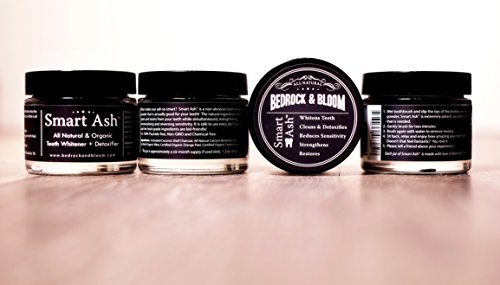 Smart Ash Organic All Natural Whitening Tooth Powder for Sensitive Teeth with Activated Charcoal & Bentonite Clay By Bedrock & Bloom, Whitener, Desensitizing, Toothpaste Alternative (5) by Bedrock & Bloom (Image #7)