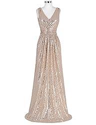 Long Sequin Dress Sleeveless