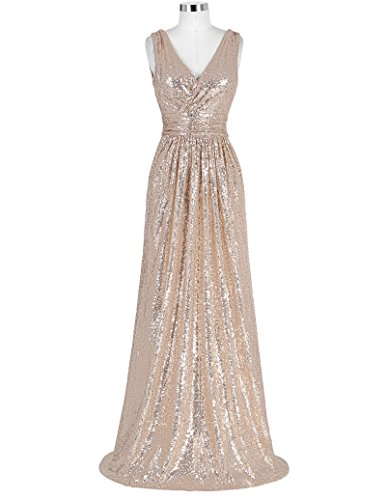 Kate Kasin Plus Size Homecoming Dress Formal Evening Party Dress Rose Gold Size 16 KK199 by Kate Kasin