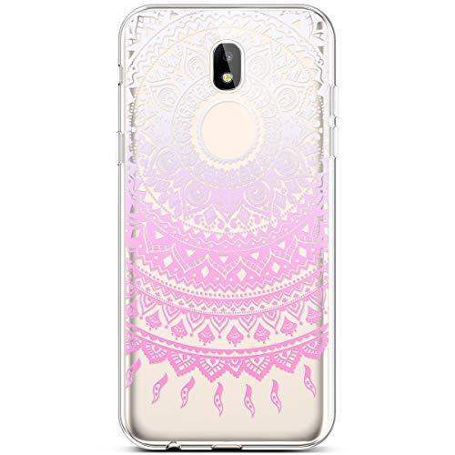 Compatible With Samsung Galaxy J3 2018 Case,J3 Achieve Case,J3 Star Case,J3  V 3rd Gen,Express Prime 3,Amp Prime 3 Case,PHEZEN Pink Mandala Flower