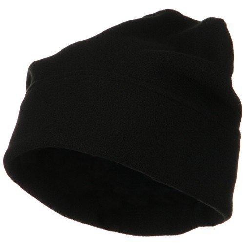 Big Size Fleece Beanie - Black OSFM (Knit Earband)