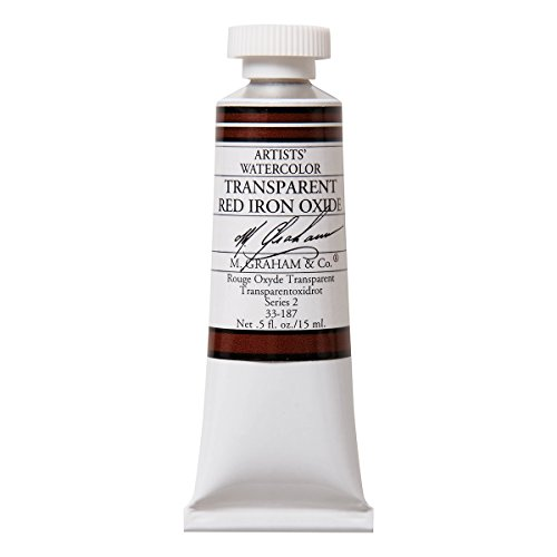 M. Graham 1/2-Ounce Tube Watercolor Paint, Transparent Red Iron Oxide by M. Graham & Co.
