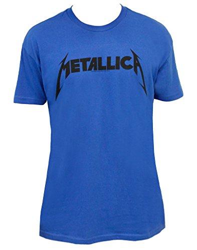 Beavis & Butthead Metallica Logo Adult Blue T-shirt (Adult -