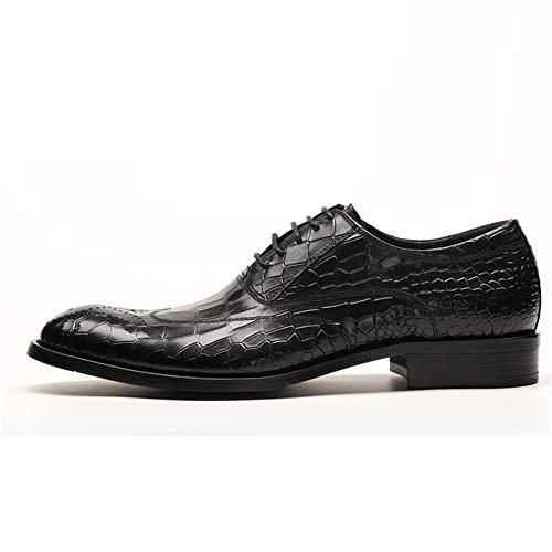 Marrón Para Suela Blanda Tamaño Patrón Cocodrilo De Zapatos Cordones Eu Derbys 42 color Hombres Qiusa Con Antideslizantes Negro Transpirable Swp46xnq