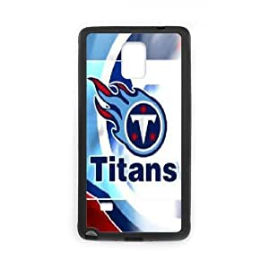 Samsung Galaxy Note 4 Cases Tennessee Titans Fire, Samsung Galaxy Note 4 Cases Tennessee Titans, [Black]